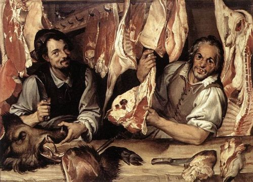 The Butcher's Shop by Bartolomeo Passerotti c.1580